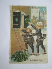 Romania Greetind card La multi ani - Happy New Year - chimney sweep