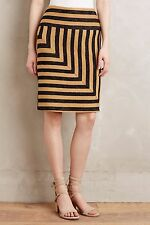 Anthropologie NWT Eva Franco Textured Striped Angler Pencil Skirt M 8 10 $128