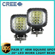 """2X48W SPOT CREE 5"""" High Power LED Work Light Fog Lamp Offroad UTE SUV BOAT JEEP"""