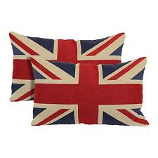 """Red Union Jack Toss Throw Pillow 2 Pack (13""""x21"""") - Brentwood"""