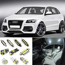 16×White LED Interior SMD Light Kit Error Free for Audi Q5 (8R) 2009-2012
