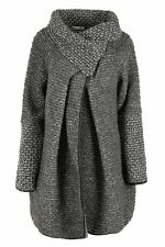 Ladies Wool Mix Cocoon Cardigan/Coat Lagenlook Italian