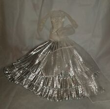 Barbie Collector Silver Snowflake Evening Gown Dress for Model Muse Doll