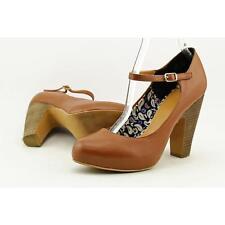 Crown Vintage Tess Women US 9 Brown Heels Pre Owned  1056
