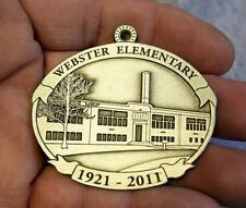 Howe House Pewter Ornament 1921-2011 Webster Elementary School MINT