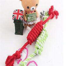 1pc Cute Puppy Dog Pet Chew Toy Braided Bone Tug Play Game Rope Knot Play Toy