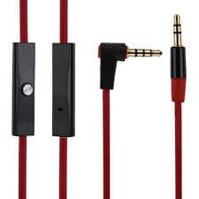 3.5mm Replacement Audio Cable L Cord for Monster Beats By Dr Dre Aux W/ Mic