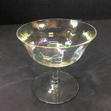 Beautiful Vintage Crystal Multicolored Short Stem Wine Glasses-Set Of 6