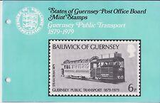 Guernsey presentación Pack 1979 transporte público 1879-1979 10% de descuento de CUALQUIER 5+