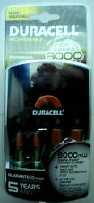 Duracell ION SPEED 8000 Professional Charger Includes 2 AA and 2 AAA NiMH
