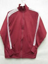 V5208 Runner Up Maroon w/White Stripes Acrylic Zip up Track Jacket Men's L