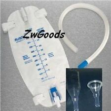 2 External Self-glued Catheters With Tubing and Leg Bag Size Small Latex-free