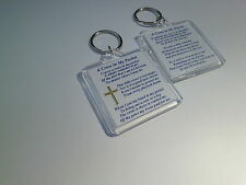 A CROSS IN MY POCKET  - KEYRING  45X45mm CHRISTAIN GIFT