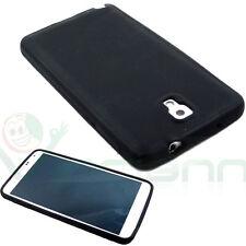 Custodia silicone per Samsung Galaxy Note 3 N9005 NERO flessibile morbida