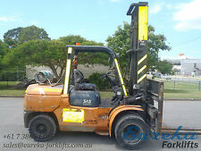 TOYOTA 5 TON LPG FORKLIFT WITH SIDE SHIFT - AVAILABLE FOR PURCHASE OR HIRE
