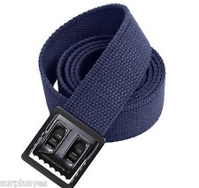 CANVAS BELT WEB NAVY BLUE ARMY MILITARY MARINE BLACK BUCKLE USMC USAF  M1 w P38