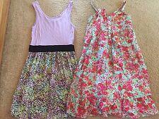 Girls H&M H & M Size 8-9 Years Dress Lot Tank Purple Floral NWT