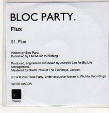 (EP580) Bloc Party, Flux - 2007 DJ CD