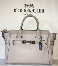 NWT COACH Swagger 27 in Pebble Leather 34816 Grey Birch RV $450