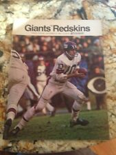 Vintage New York Giants Football 1968 Washington Redskins Program