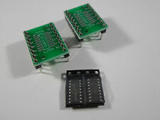 2x 74HC165D Schieberegister shift register + DIP16 Adapter Board Platine