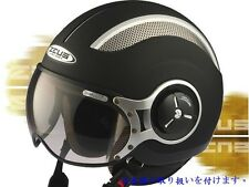 MOMO style Matte Black DOT Open Face Helmet Motorcycle scooter M L XL 2XL