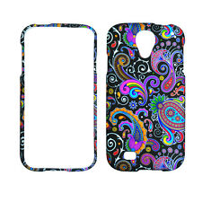 Black Paisley for Samsung Galaxy S 4  Rubberized Feel Case Cover