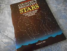 1984 CMA Awards Program Book Kenny Rogers Alabama Loretta Lynn Ernest Tubb