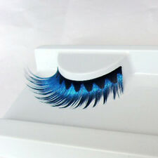 Popular Special Makeup Long Blue False/Fake Eyelashes Stage Beauty Natural 2016
