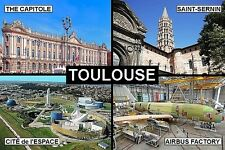 SOUVENIR FRIDGE MAGNET of TOULOUSE FRANCE
