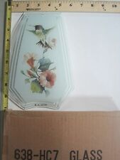 FREE US SHIP OK Touch Lamp Replacement Glass Panel Flowers Humming Bird 638-HC7