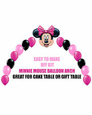 Pink Minnie Mouse Birthday Party BALLOON ARCH for Cake Table Gift Table Disney