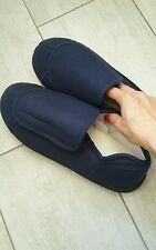 MEN'S NAVY BLUE HEALTH SLIPPERS Size 9-10 (L) New, without tags!