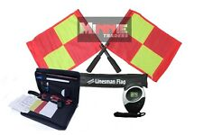 Brand New Deluxe Flag Set with Referee data Wallet & Digital Stopwatch (SW005)