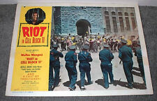 RIOT IN CELL BLOCK original 1954 poster SAN QUENTIN PRISON 11x14 lobby card