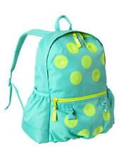 GAP Kids Junior Girls Backpack in Water Garder Green with Sequin Polka Dots NEW