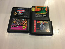 Sega 4 Game Lot Great Titles Gladiators, Clayfighters!! +++ Tested & Cleaned!