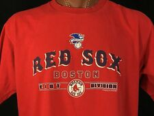 Boston Red Sox East Division Red Lee Sport Graphic Tee 100% Cotton XL