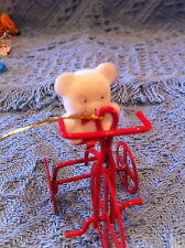 "NEW AVON TEDDY BEAR ORNAMENT COLLECTION ""TEDDY ON TRICYCLE"" CHRISTMAS ORNAMENT"