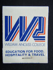 WILLIAM ANGLISS COLLEGE EDUCATION FOOD HOSPITALITY & TRAVEL 6062228 MATCHBOOK