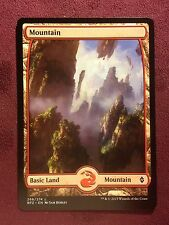 Battle for Zendikar Full Art Land  Mountain #266  VO  -  MTG Magic (Mint/NM)