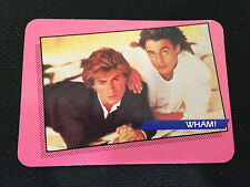 WHAM 1985 ROCK STAR ODD BALL CONCERT CARD GEORGE MICHAEL & RIDGELEY TRADING CARD