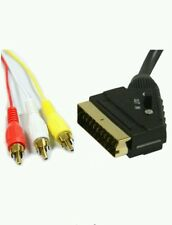 1.5m 21 pin SCART a 3 x IN OUT commutabile Triplo Composito RCA Piombo Switch/UK