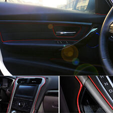 1pc Car Universal Interior Red Edge Gap Line Garnish 5M Point Molding Accessory