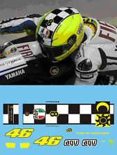 ROSSI - 2009 TEST - ROSSI MONSTER FLUORESCENT HELMET DECALS  - 1:12