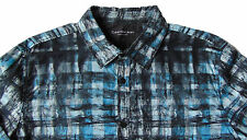 Men's CALVIN KLEIN JEANS Black Blue Abstract Shirt XXL 2XL NWT NEW Awesome!