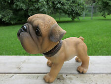 BOXER  BOBBLE HEAD DOG FIGURINE PUPPY RESIN PET CANINE CAR DECOR NEW
