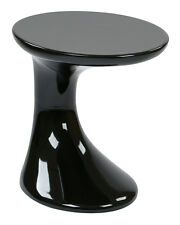 Office Star Slick Side Table with High Gloss Black Finish by Ave Six SLKST-33