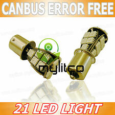 2 x WHITE LED Light BA15S [382, P21W] SMD Car Bulbs Canbus No Error Free 12v