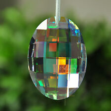 Colorful Glass Crystals Chandelier Lamp Prisms Parts Hanging Drops Pendants 76mm